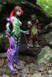 Zyra and Maokai cosplay: Do not defy nature! by Nobodyyyyy