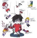 Attacking Fangirls-Chocoreaper by RikuHikari-Neo