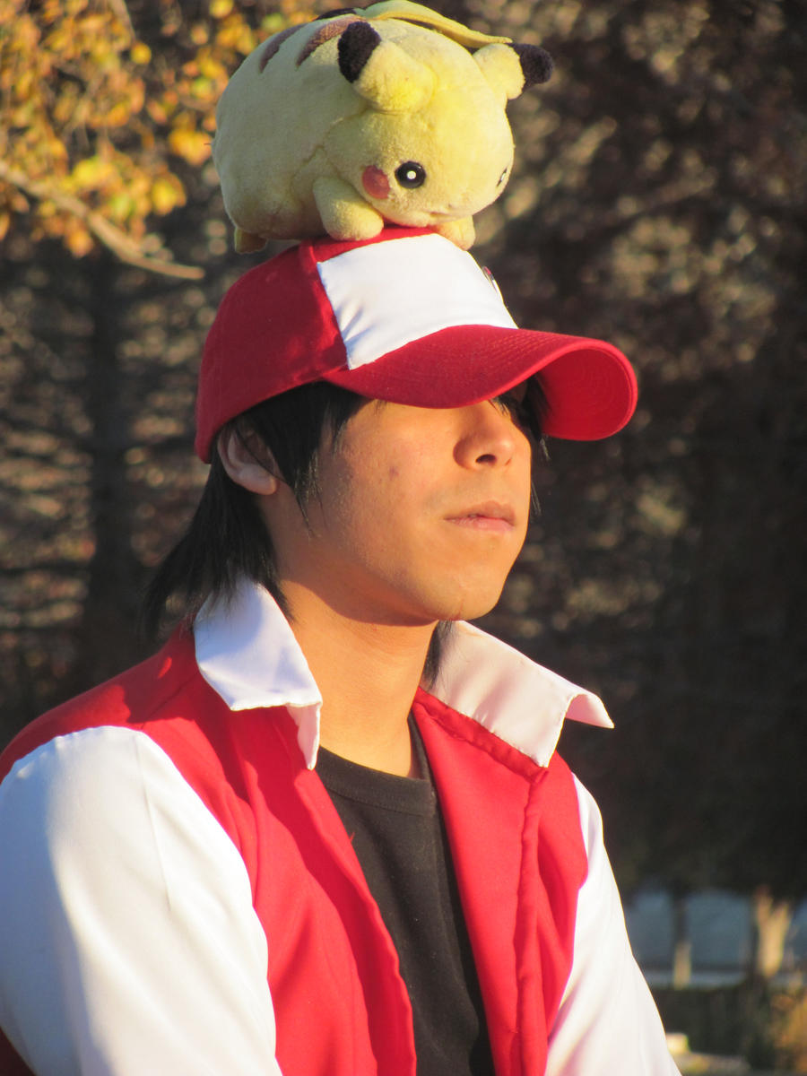 red cosplay pokemon trainer by yamikohime on deviantart