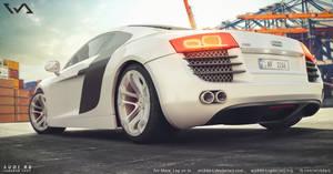 Audi R8 - harbour 3D RENDER