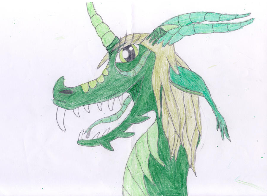 Green dragoness by dupinema