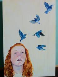Bird Brain WIP 2 by Maevethebrave