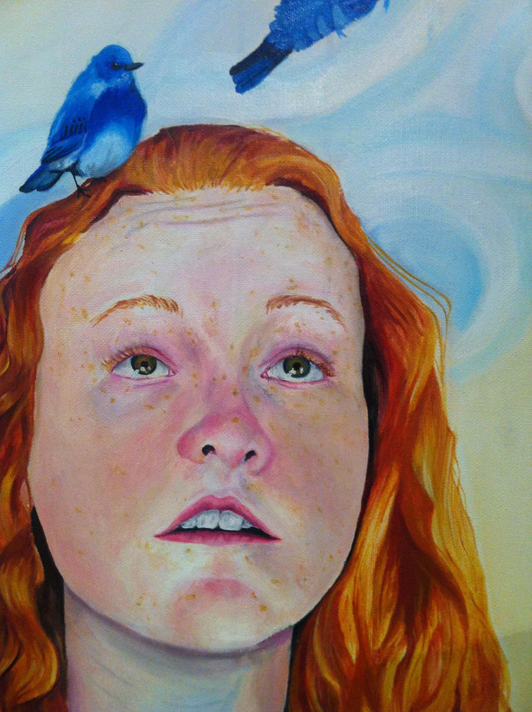 Bird Brain Detail by Maevethebrave