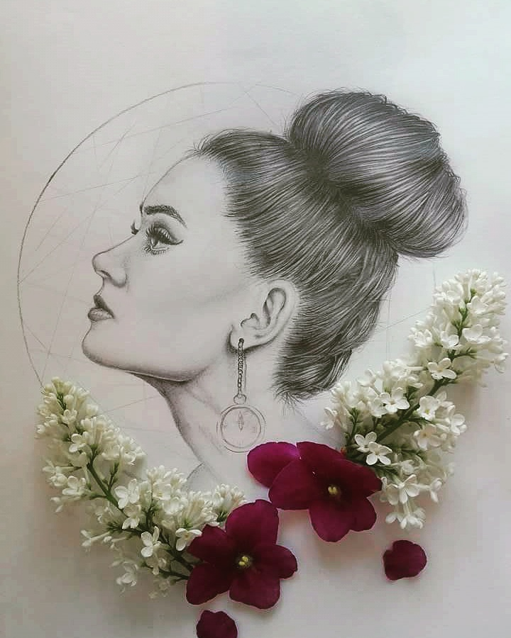 Portrait practice - in graphite by AnniePad