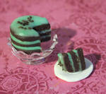 Mint Choc Chip Cake by vlace