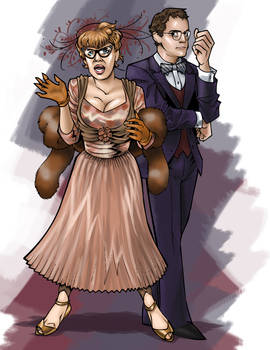 Mrs. Peacock and Prof. Plum