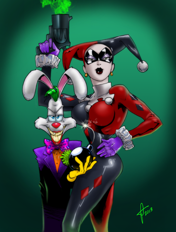 Roger and Jessica as Joker and Harley by MrOrozco