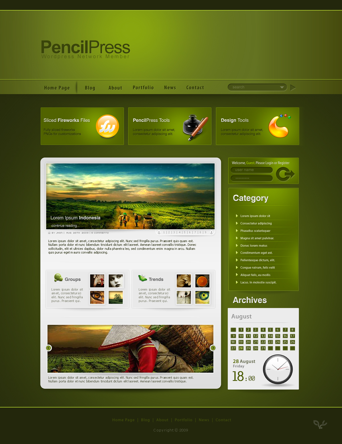 pencilpress theme by gdnz
