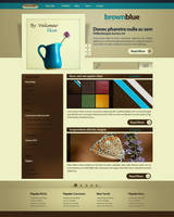 brownblue wp theme by gdnz