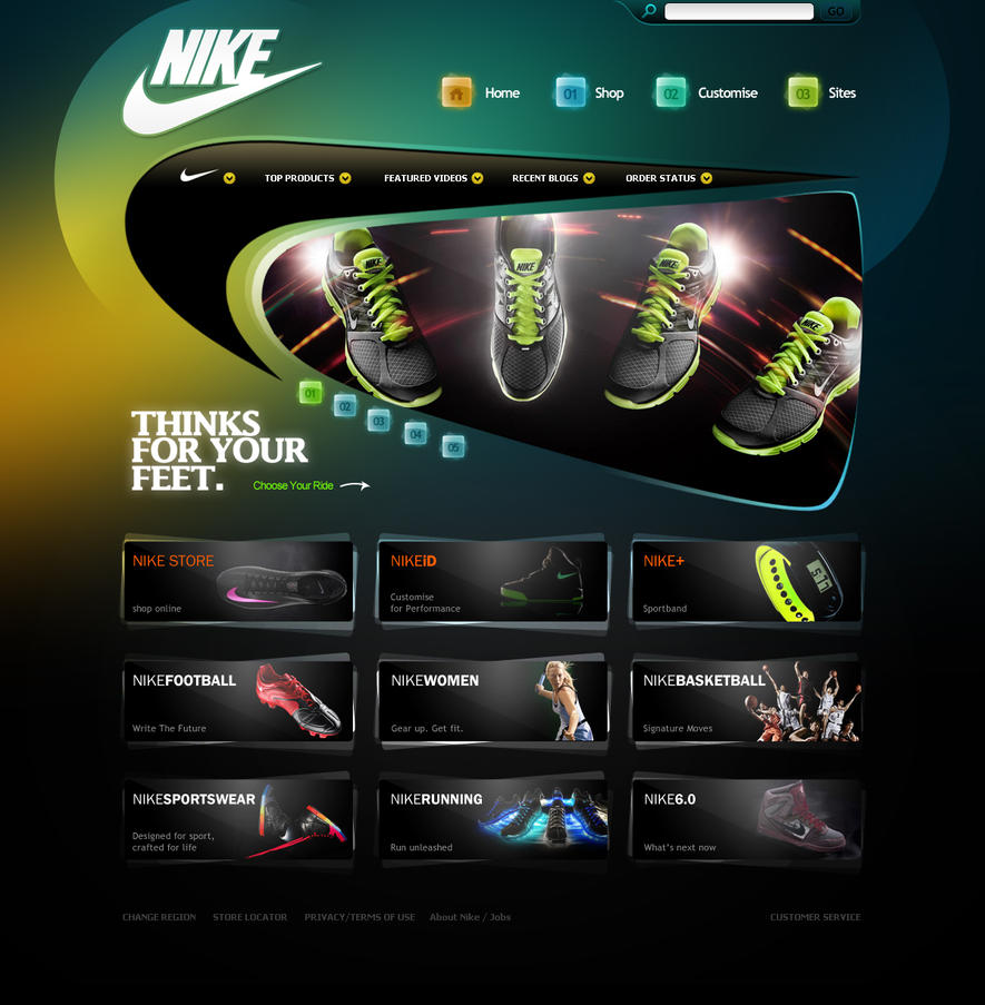 nike by gdnz d32v0nf Web Interface Showcase of Inspiration
