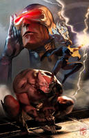 X-men Cover Illustraiton by grantparsley
