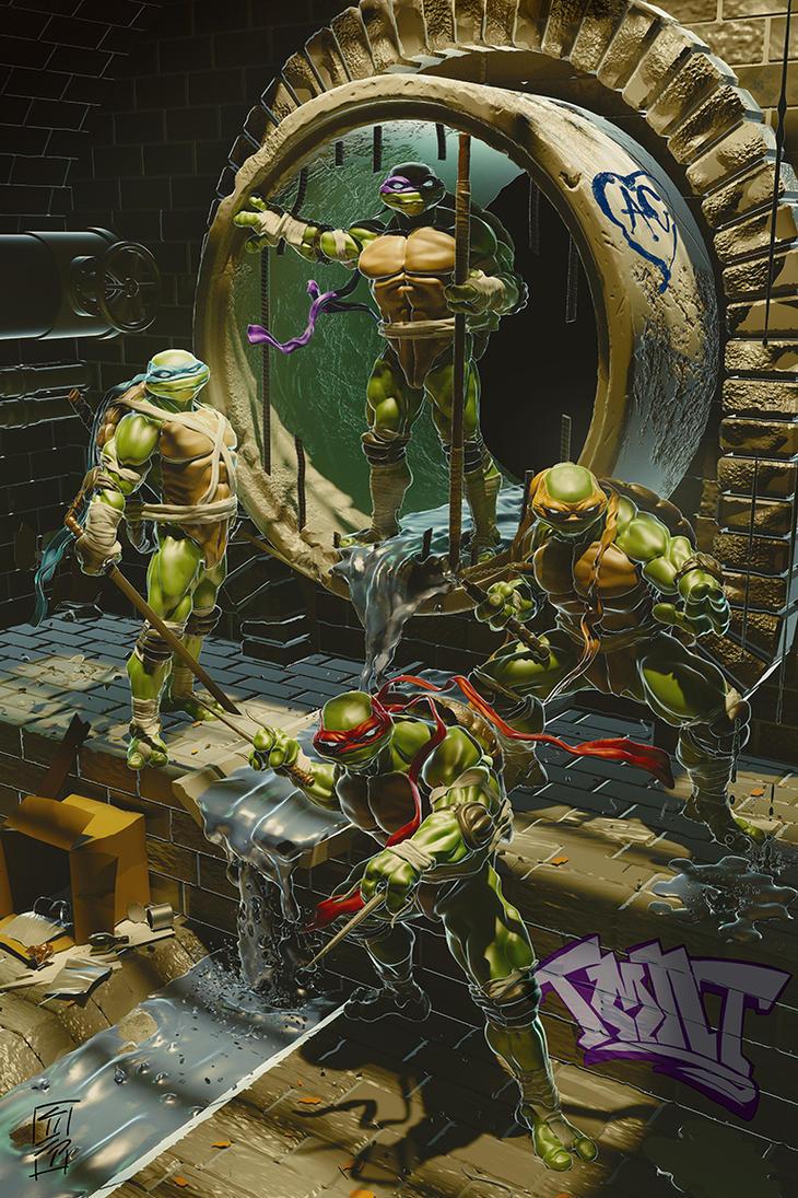 Teenage Mutant Ninja Turtles by Grant Parsley by grantparsley