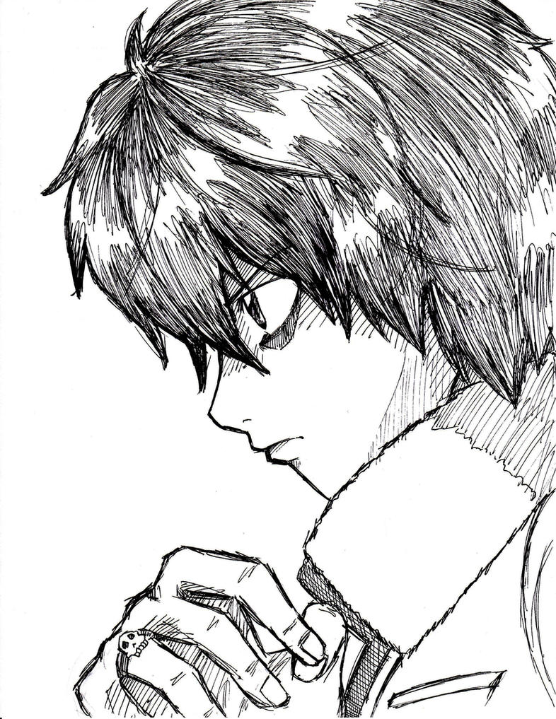 A Drawing Nico's Face Side View By Rustyartist Nico's Face Side View  By Rustyartist On Deviantart How To