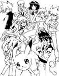 Heroes of Kanto _line art_