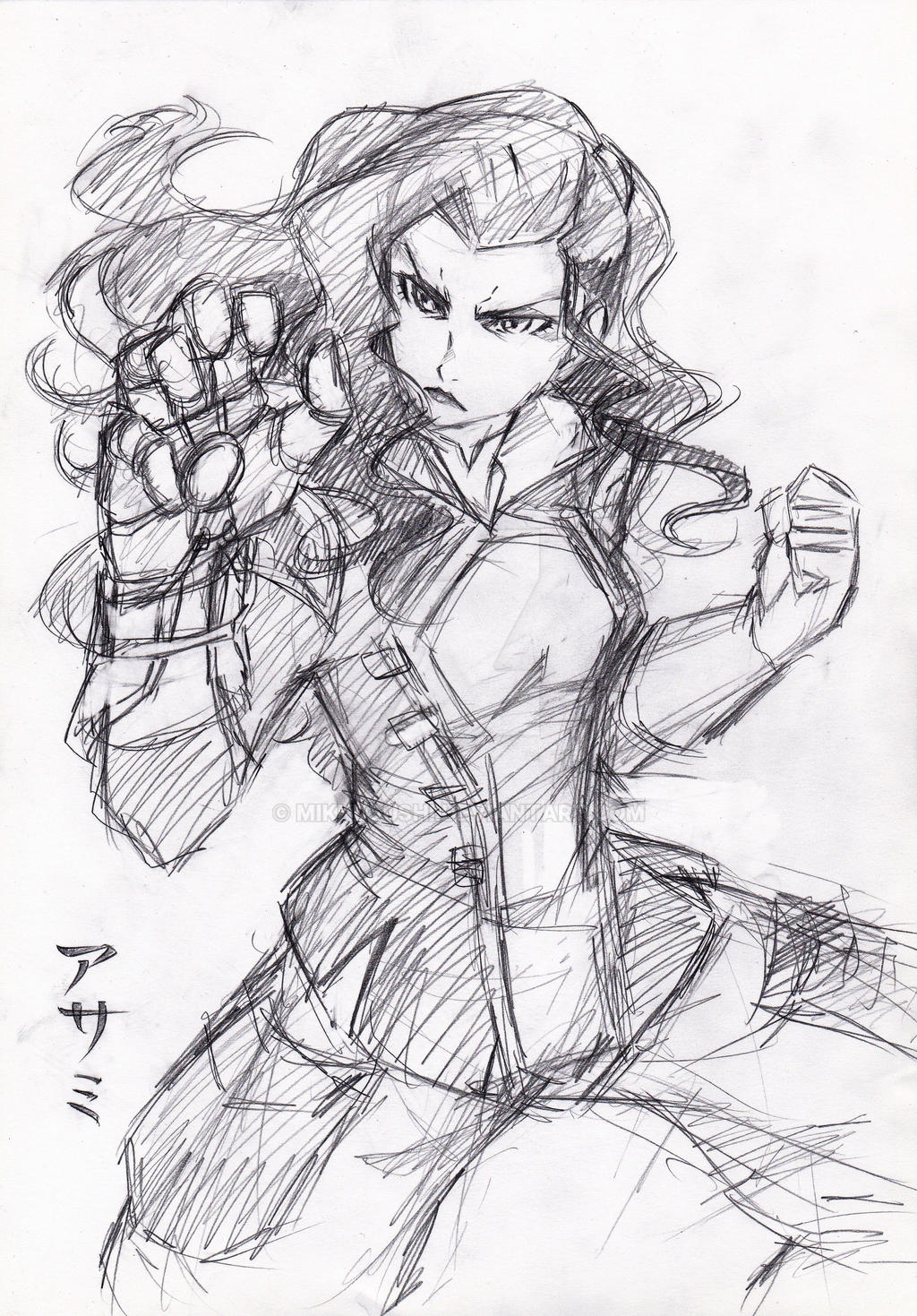 Asami rough sketch by RustyArtist