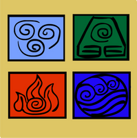 Avatar - 4 nations' symbols by kspatula