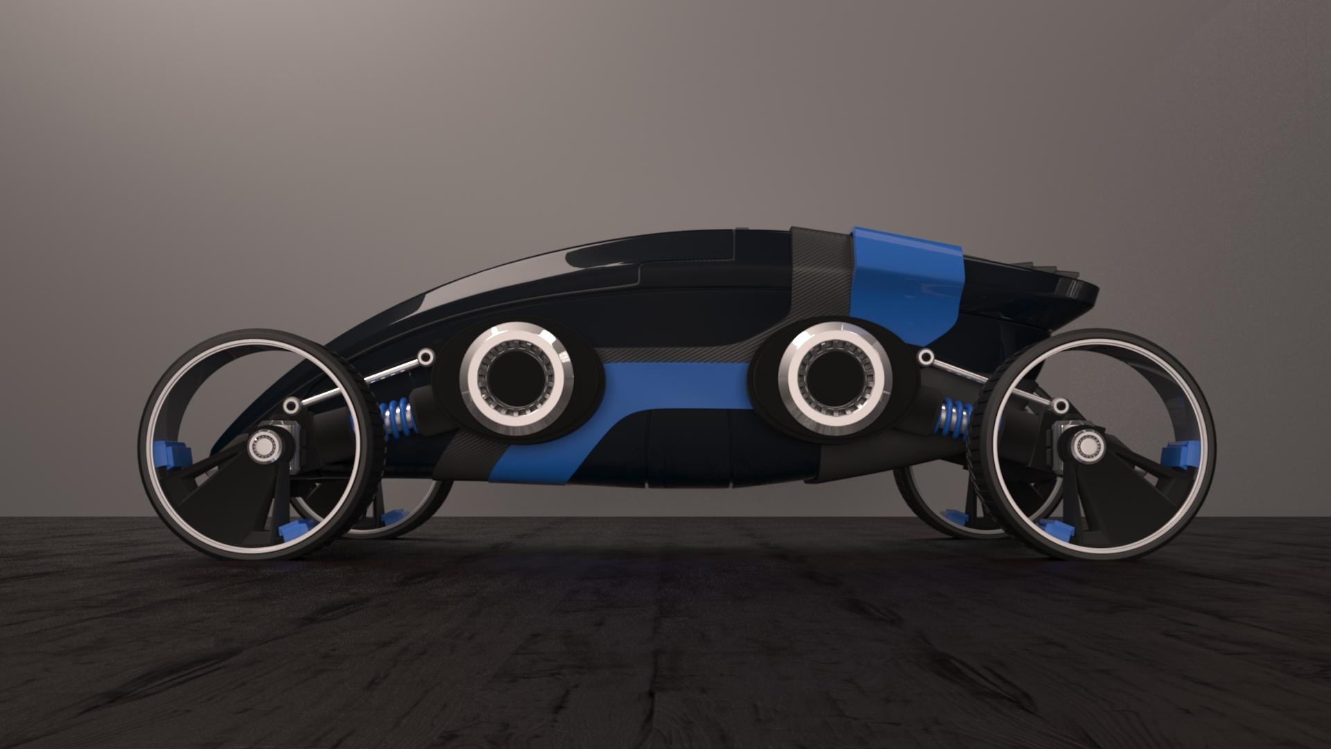 Futuristic car earlier render by curux