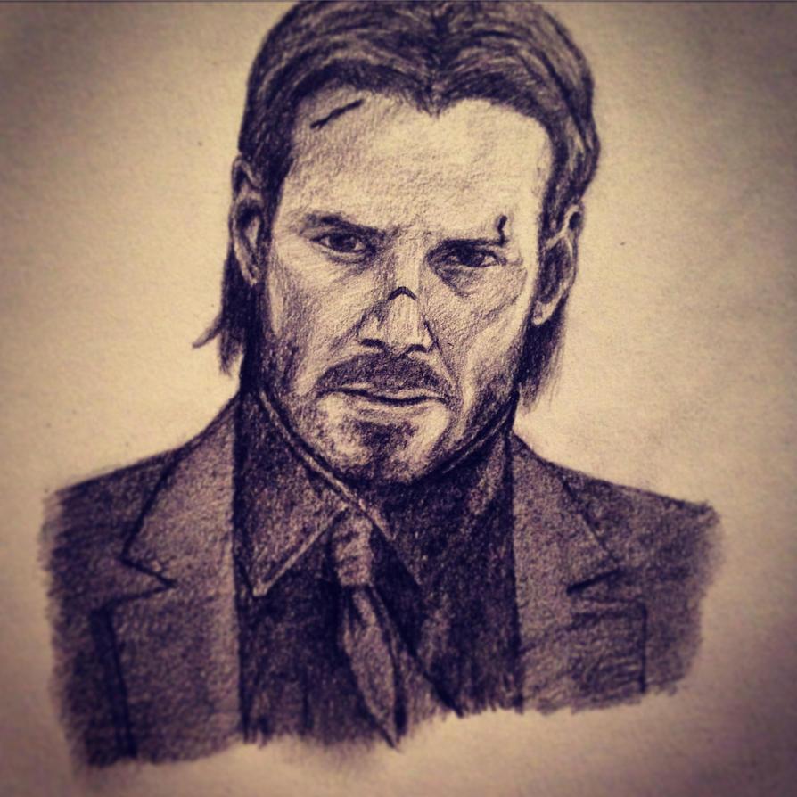 John Wick Drawing by Eman-Ekaf