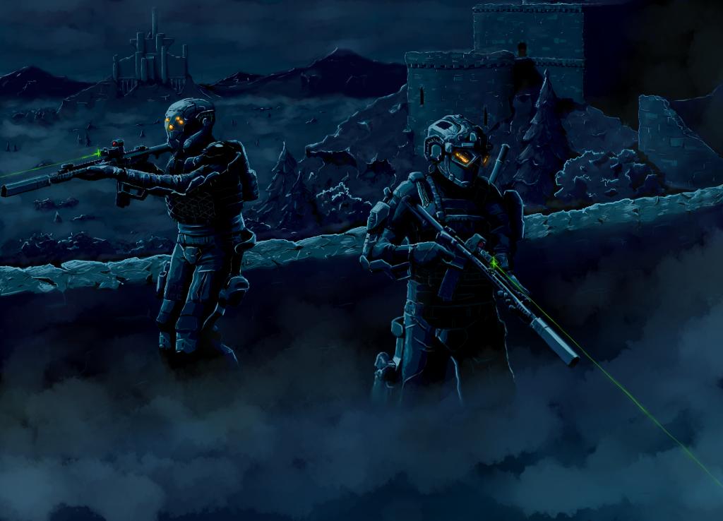 Future Exo Soldiers - Castle by Eman-Ekaf