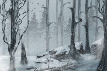 Snow Speedpaint by NerdRelic
