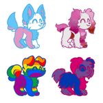 Pride puppy adopts! by Moodermeowstic