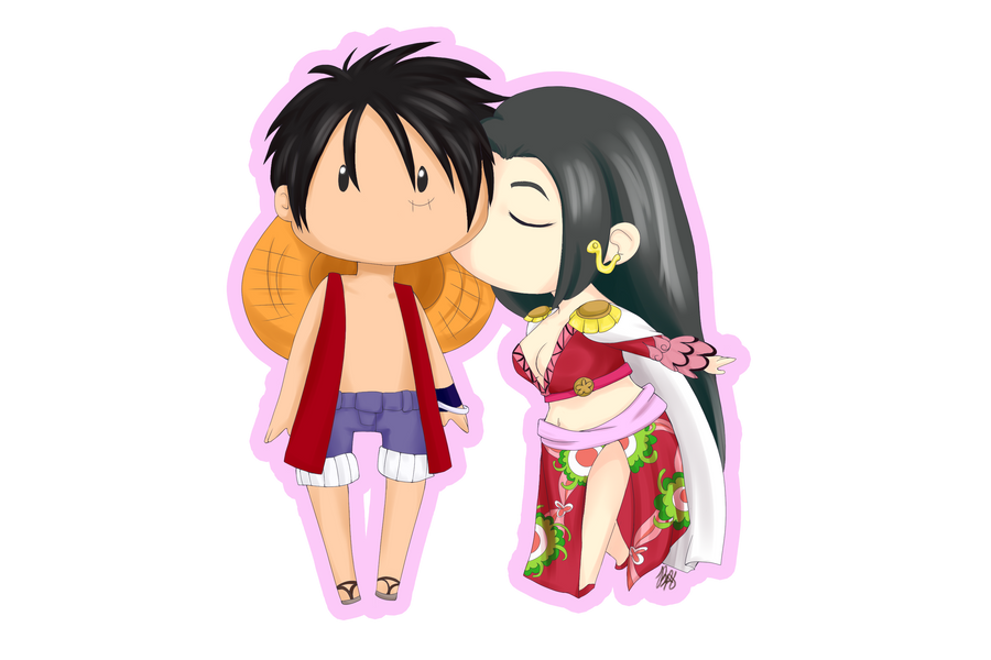 comm___luffy_x_boa_chibi_sticker_by_pand