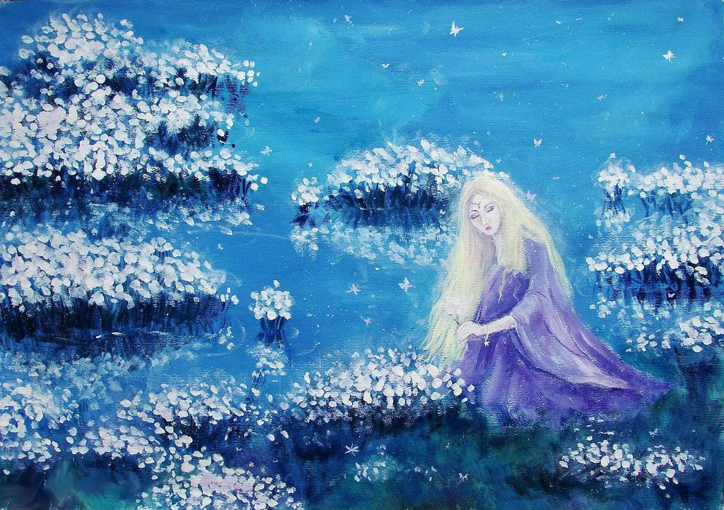 Field of snowflowers by Ninquelen