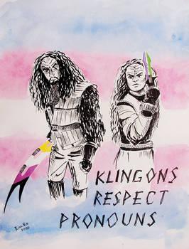 klingons respect pronouns