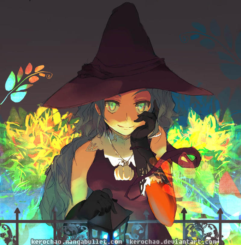 autumn witch by kerochao