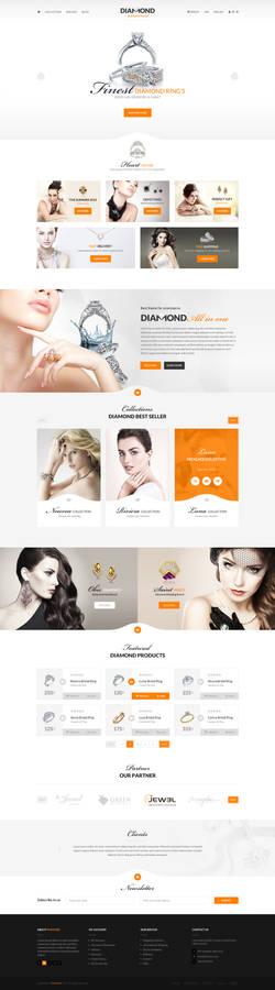Diamond - Ecommerce PSD template