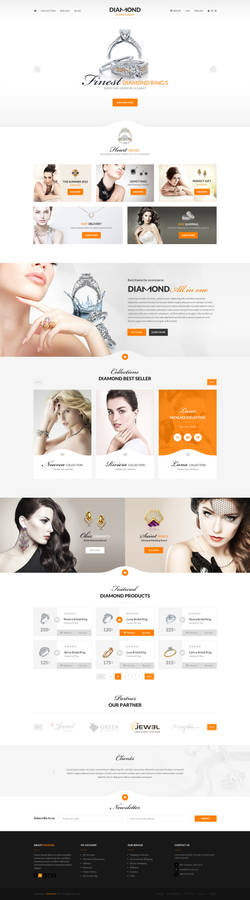 Diamond - Ecommerce PSD template