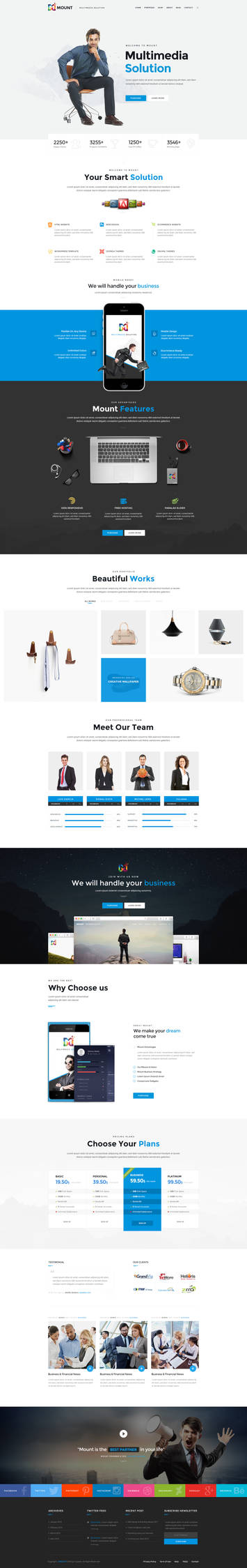 Mount - Business PSD Template