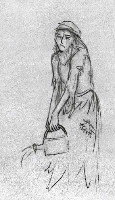 Les Miserables sketch: Eponine by Nyranor