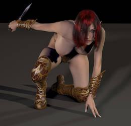 Morganna, elf assassin by Bradwells