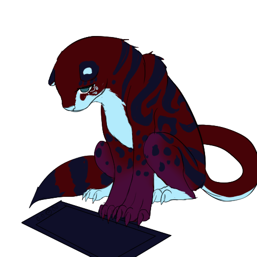 Sad Kuro ---warning for cintiq browsers by Kuroleopard