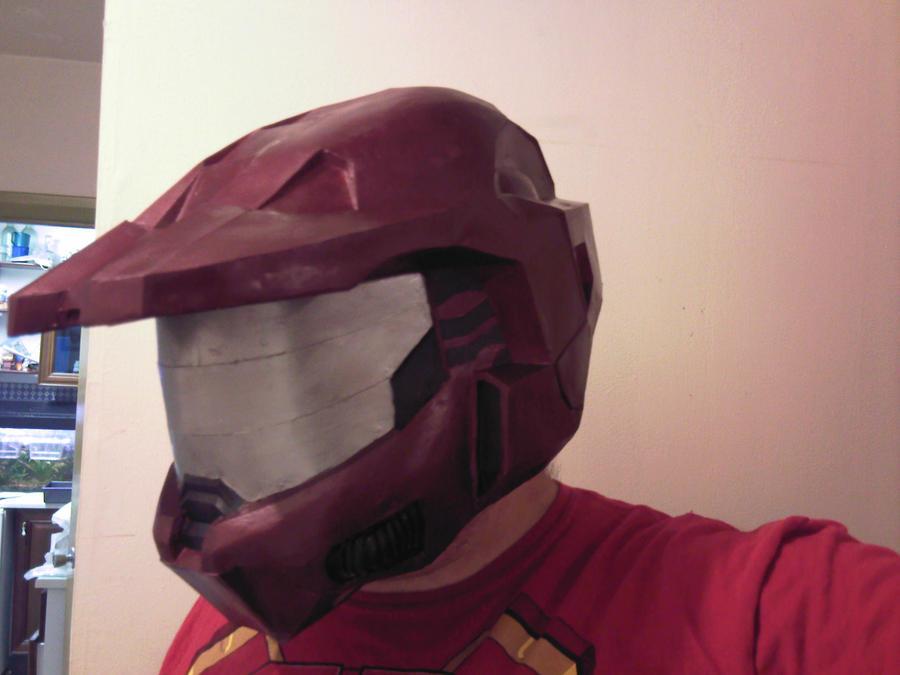 Halo Mk VI suit helmet redux by Sutekhian