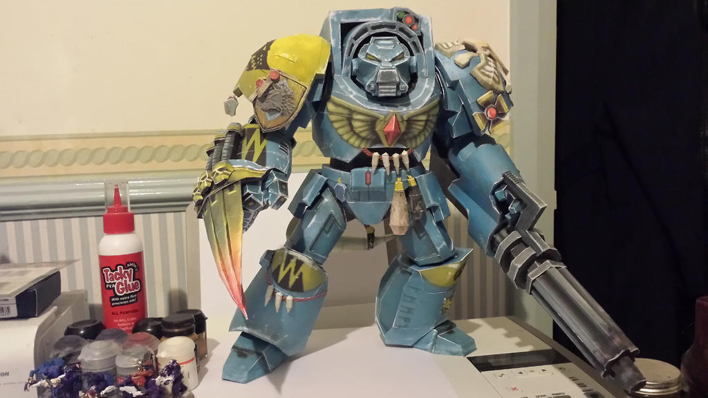 Warhammer 40K Space Wolves Terminator papercraft by Sutekhian