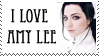I Love Amy Lee Stamp - Static by stamplover