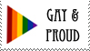 Gay And Proud Stamp by stamplover