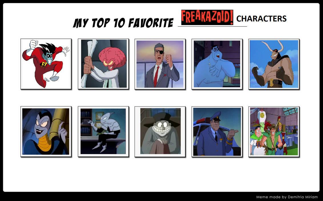 My Top 10 Favorite Freakazoid Characters