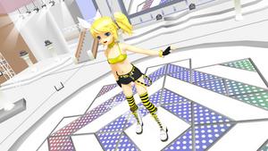 ISAO Summer Kagamine Rin + DL by polymelia