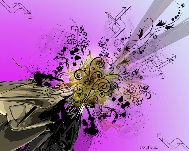 Purple Vector Wallpaper by PonyFierce