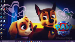 Paw Patrol - Chase x Skye - Love Desktop