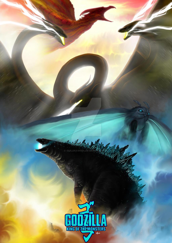 Godzilla King Of The Monsters Poster Godzilla King o...