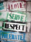Love.Serve.Respect.Tolerate.