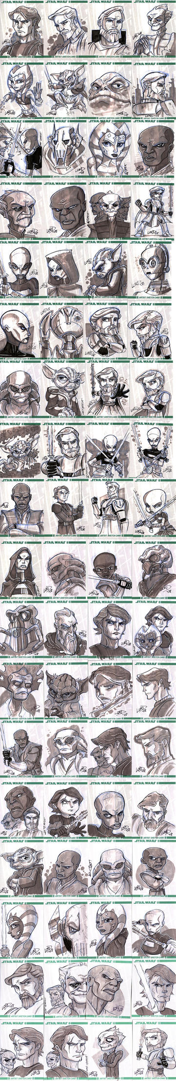 Clone Wars Sketch Cards by lordmesa