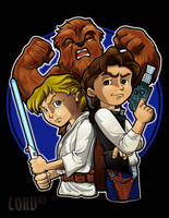 Lil Luke, Han and Chewy by lordmesa