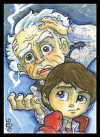 Back 2 Da Future  SketchCard by lordmesa