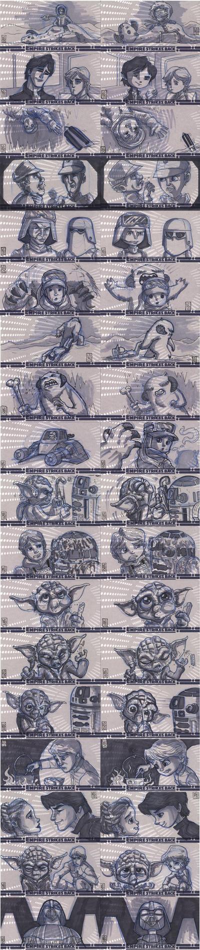 ESB Sketch Cards 1 by lordmesa