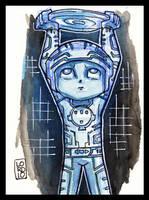Lil Tron Sketch Card by lordmesa